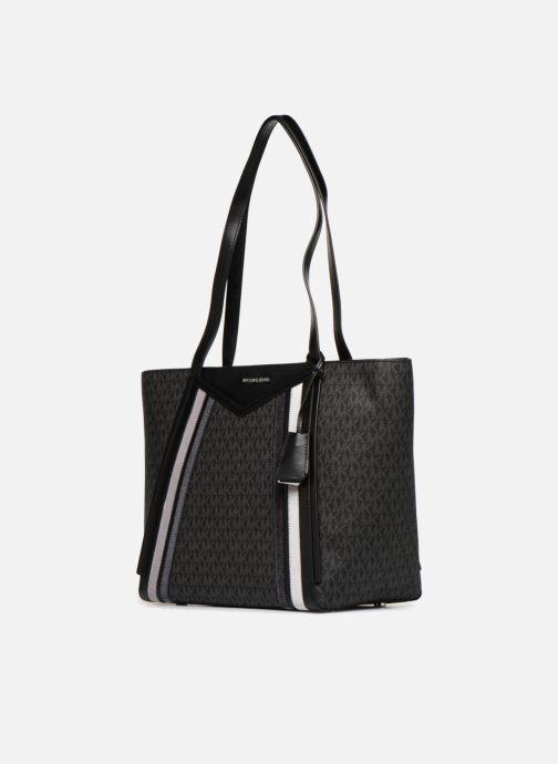 Handtassen Michael Michael Kors Whitney Cabas LG TZ Tote Zwart model