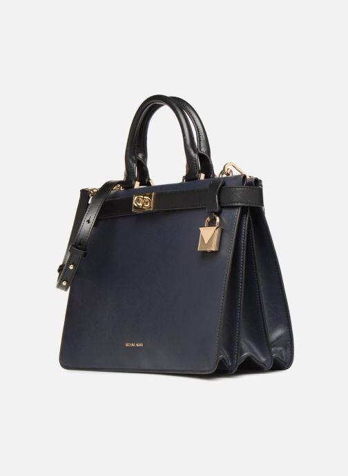 Handtaschen Michael Michael Kors Tatiana MD Satchel blau schuhe getragen