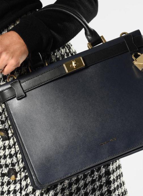Handtaschen Michael Michael Kors Tatiana MD Satchel blau ansicht von oben
