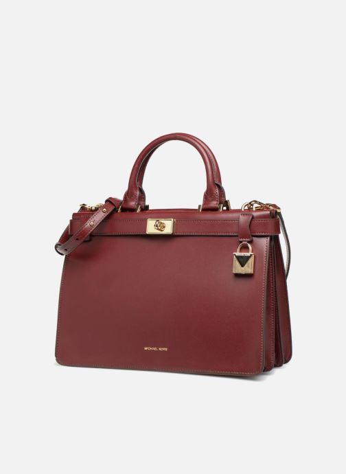 Handtaschen Michael Michael Kors Tatiana MD Satchel weinrot schuhe getragen