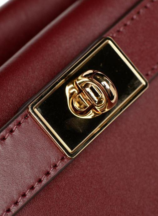 Handtaschen Michael Michael Kors Tatiana MD Satchel weinrot ansicht von links