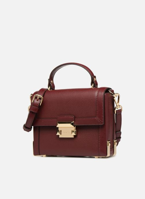 Handtassen Michael Michael Kors Jayne SM Trunk Bag Bordeaux model
