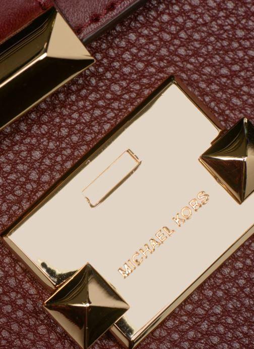 Handtassen Michael Michael Kors Jayne SM Trunk Bag Bordeaux links