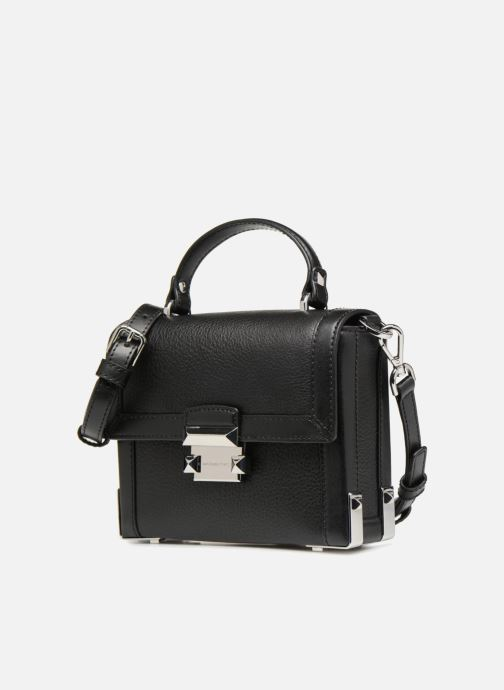 Borse Michael Michael Kors Jayne SM Trunk Bag Nero modello indossato