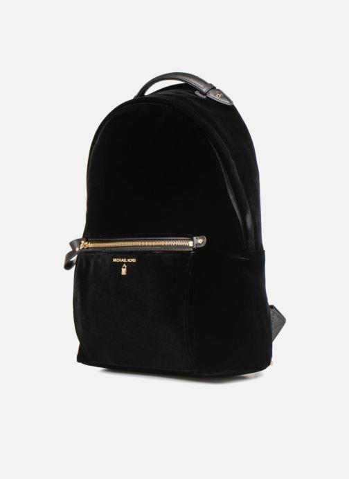 Rucksäcke Michael Michael Kors Nylon Velours Kelsey LG Backpack schwarz schuhe getragen