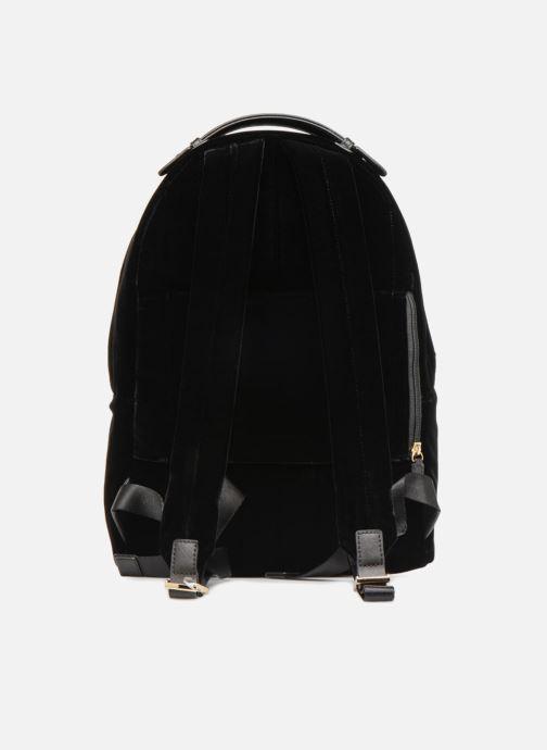Rucksäcke Michael Michael Kors Nylon Velours Kelsey LG Backpack schwarz ansicht von vorne