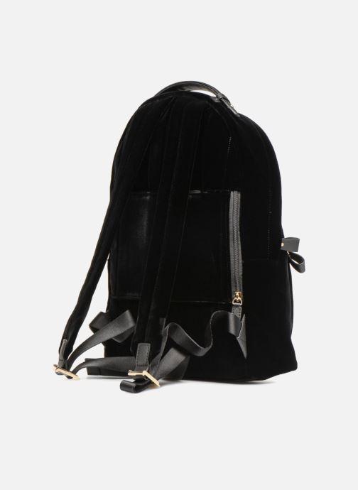 Rugzakken Michael Michael Kors Nylon Velours Kelsey LG Backpack Zwart rechts
