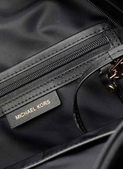 Rugzakken Michael Michael Kors Nylon Velours Kelsey LG Backpack Zwart achterkant