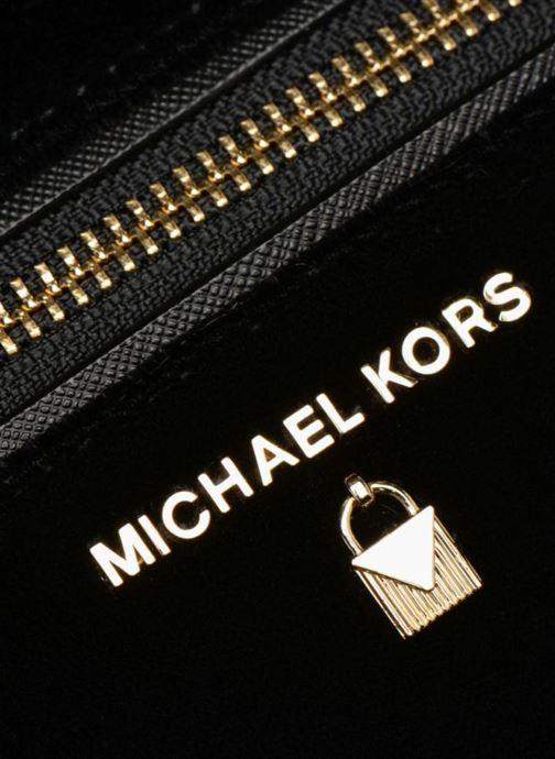 Rucksäcke Michael Michael Kors Nylon Velours Kelsey LG Backpack schwarz ansicht von links