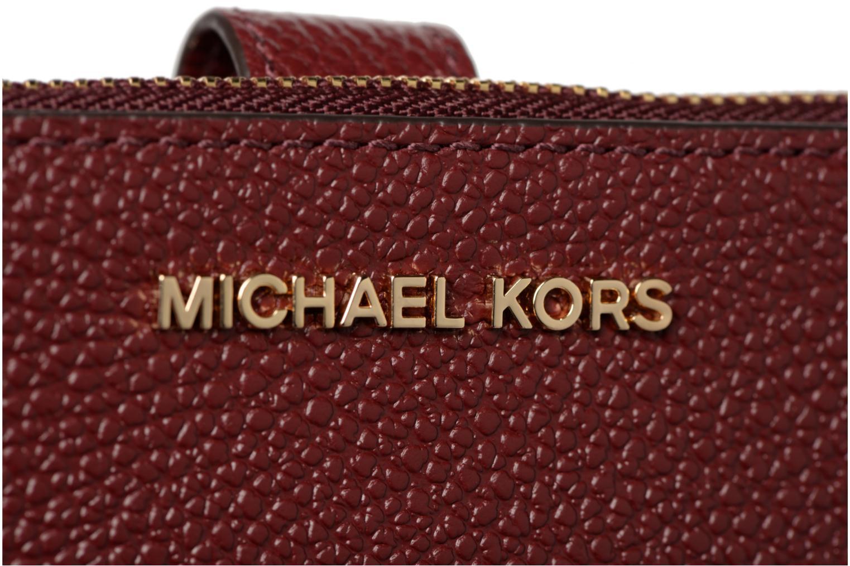 Petite Maroquinerie Michael Michael Kors WRISLET DOUBLE ZIP Bordeaux vue gauche