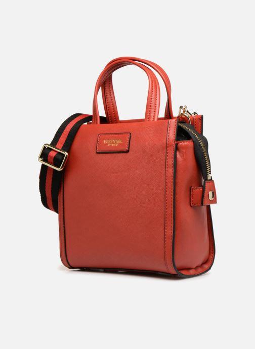 Sacs à main Essentiel Antwerp Rovely handbag Rouge vue portées chaussures