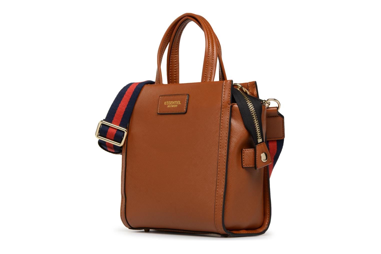 Sacs à main Essentiel Antwerp Rovely handbag Marron vue portées chaussures