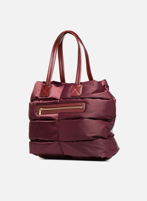 Bolsos de mano Essentiel Antwerp Reverest quilted nylon shopper Vino vista del modelo