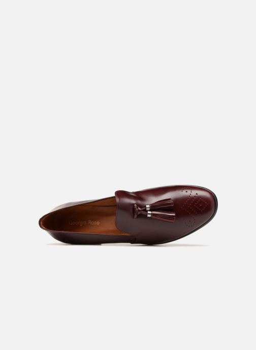 Loafers Georgia Rose Taquine Burgundy view from the left
