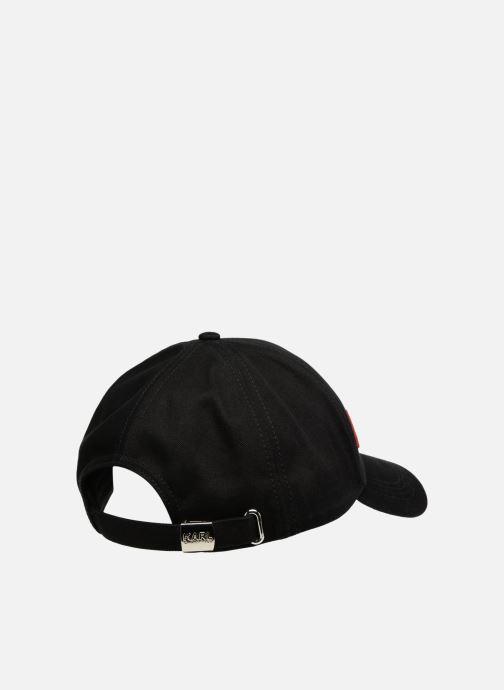 Casquettes Karl Lagerfeld K/STRIPES CAP Noir vue portées chaussures