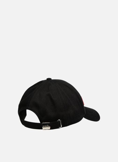 Kappe KARL LAGERFELD K/STRIPES CAP schwarz schuhe getragen