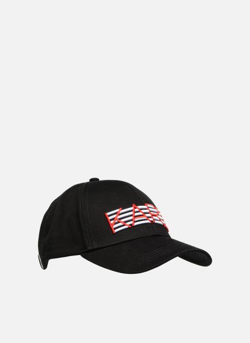 Kappe KARL LAGERFELD K/STRIPES CAP schwarz ansicht von vorne