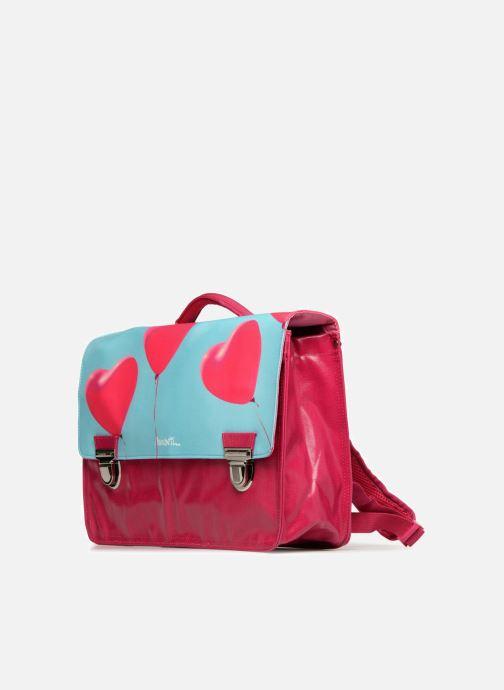 Per la scuola MiniSéri Cartable 39cm Rosa modello indossato