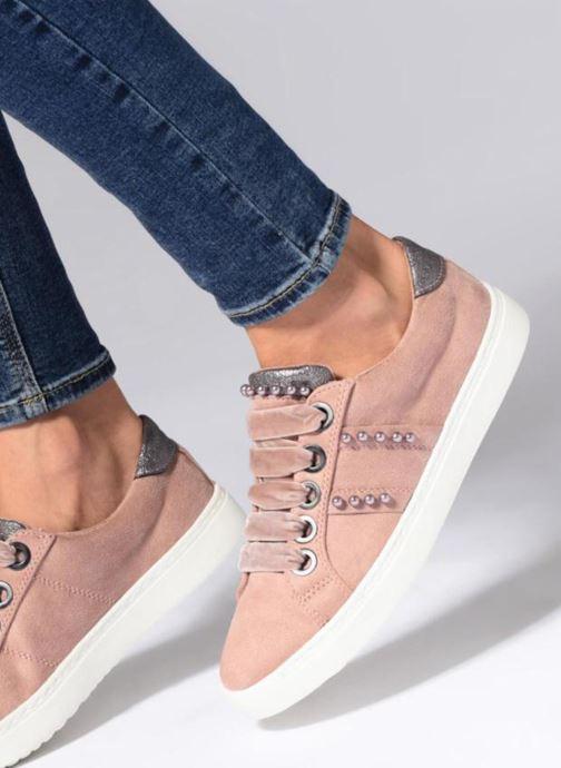 Baskets I Love Shoes Serina Gris vue bas / vue portée sac