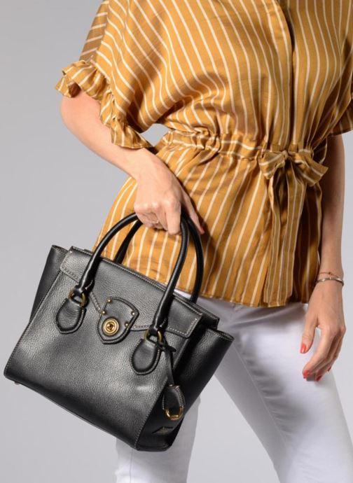 Handtaschen Lauren Ralph Lauren Millebrook Satchel M schwarz ansicht von oben