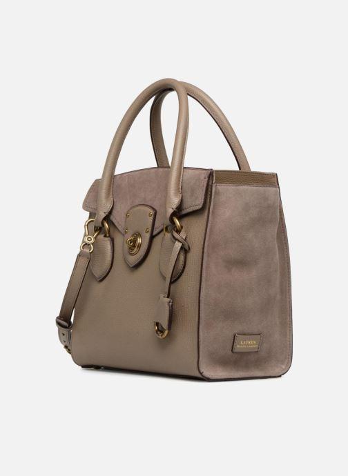Handtaschen Lauren Ralph Lauren Millebrook Satchel M beige schuhe getragen