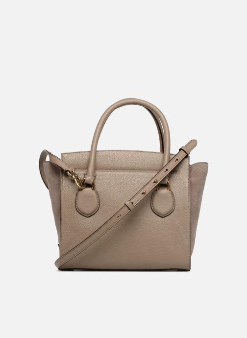 Handtaschen Lauren Ralph Lauren Millebrook Satchel M beige ansicht von vorne