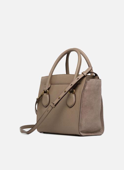 Handtaschen Lauren Ralph Lauren Millebrook Satchel M beige ansicht von rechts
