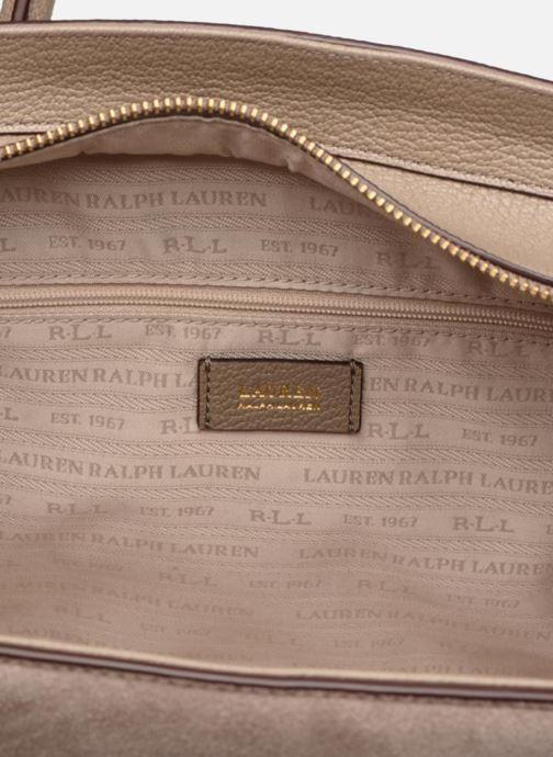 Handtassen Lauren Ralph Lauren Millebrook Satchel M Beige achterkant