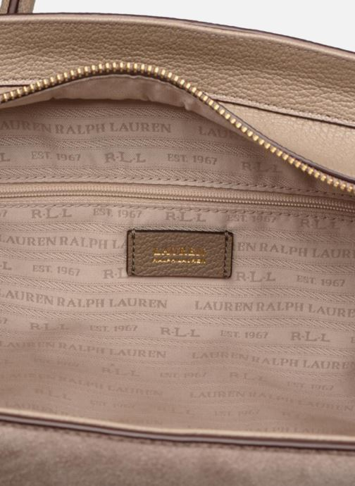 Handtaschen Lauren Ralph Lauren Millebrook Satchel M beige ansicht von hinten