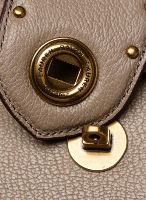 Handtaschen Lauren Ralph Lauren Millebrook Satchel M beige ansicht von links