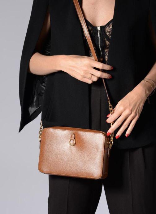 Sacs à main Lauren Ralph Lauren Benington Camera Bag M Marron vue bas / vue portée sac