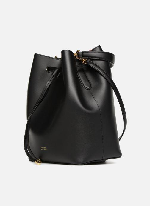 Sacs à main Lauren Ralph Lauren Debby Drawstring Medium Noir vue portées chaussures