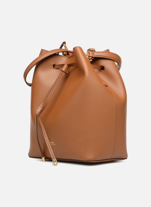 Handtaschen Lauren Ralph Lauren Dryden Debby Drawsting M braun schuhe getragen