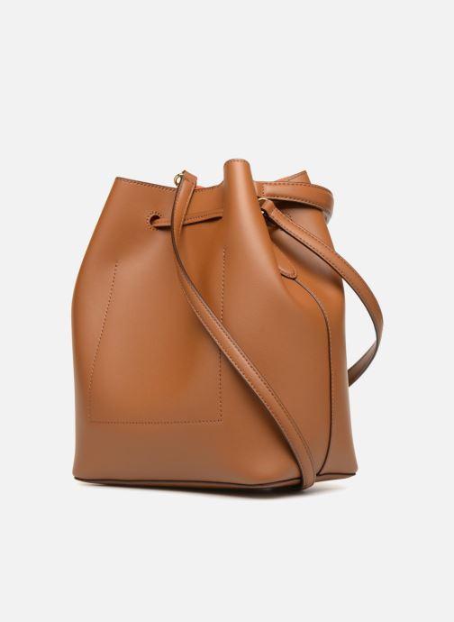 Handtaschen Lauren Ralph Lauren Dryden Debby Drawsting M braun ansicht von rechts