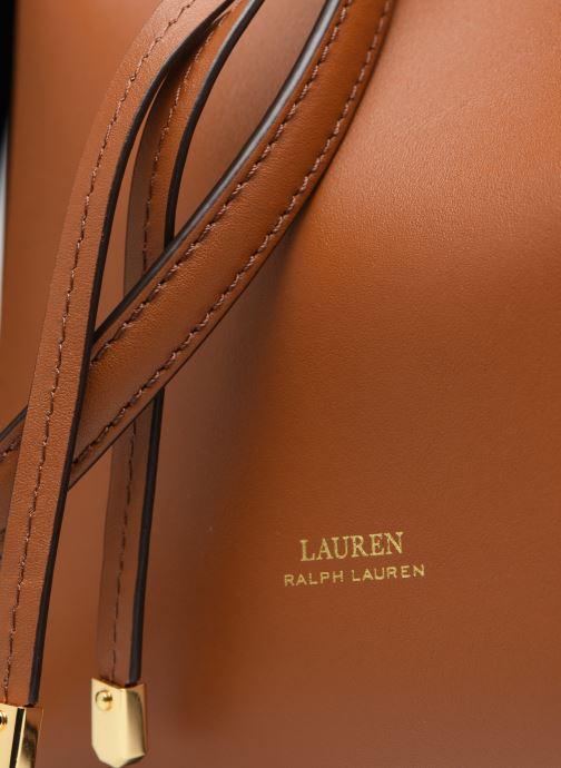 Sacs à main Lauren Ralph Lauren Dryden Debby Drawsting M Marron vue gauche