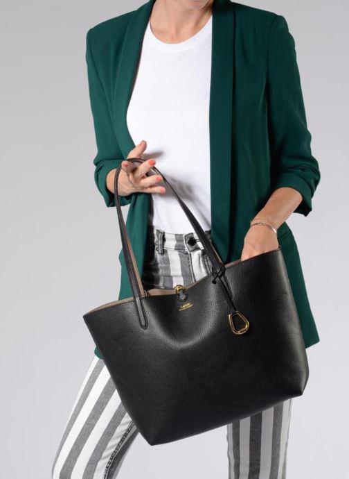 Sacs à main Lauren Ralph Lauren Merrimack Reversible Tote Noir vue bas / vue portée sac