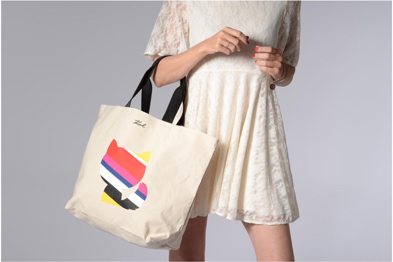STRIPES K SHOPPER KARL CANVAS Natural LAGERFELD xPnaqZz1f