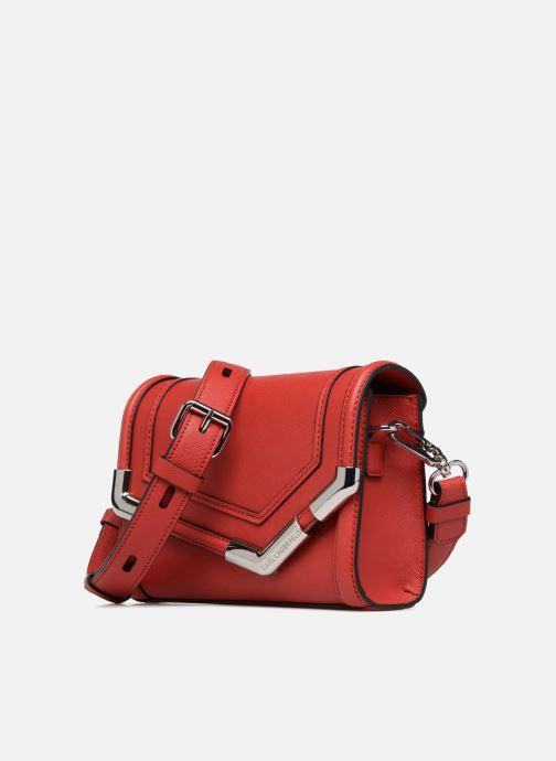 Handtaschen KARL LAGERFELD KROCKY SAFFIANO SMALL SHOULDERBAG rot schuhe getragen