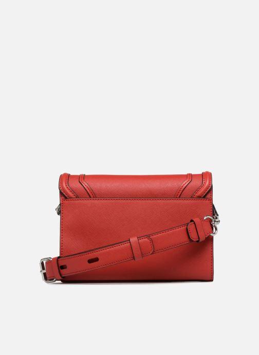 Handtaschen KARL LAGERFELD KROCKY SAFFIANO SMALL SHOULDERBAG rot ansicht von vorne
