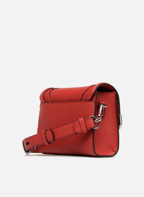 Handtaschen KARL LAGERFELD KROCKY SAFFIANO SMALL SHOULDERBAG rot ansicht von rechts