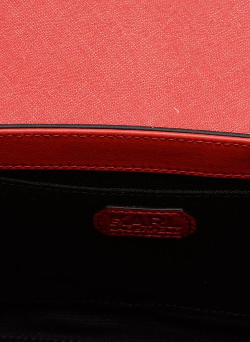 Handtaschen KARL LAGERFELD KROCKY SAFFIANO SMALL SHOULDERBAG rot ansicht von hinten