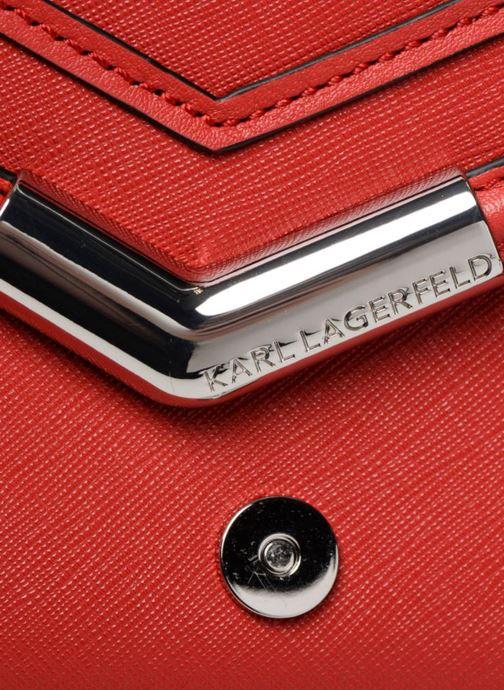 Handtaschen KARL LAGERFELD KROCKY SAFFIANO SMALL SHOULDERBAG rot ansicht von links