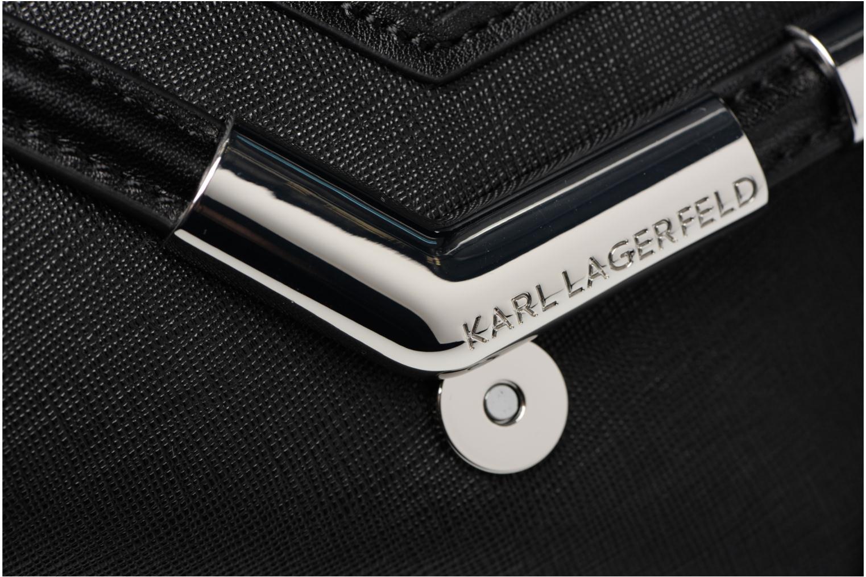 LAGERFELD KARL ROCKY Black K SAFFIANO SHOULDERBAG SMALL qzCzdr