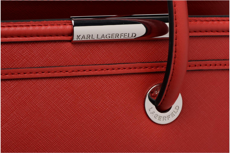 K TOTE KARL Red LAGERFELD SAFFIANO ROCKY Bwwq5av