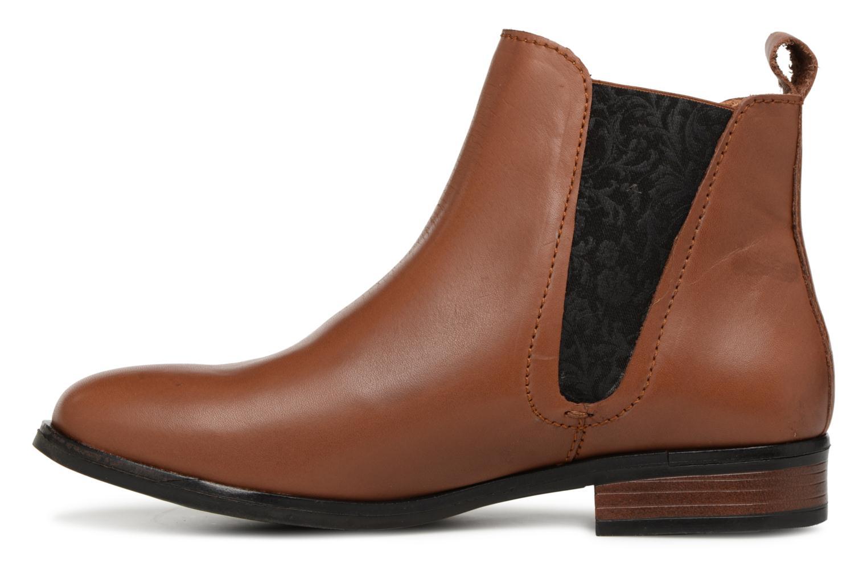 Bottines et boots Georgia Rose Steeva Marron vue face