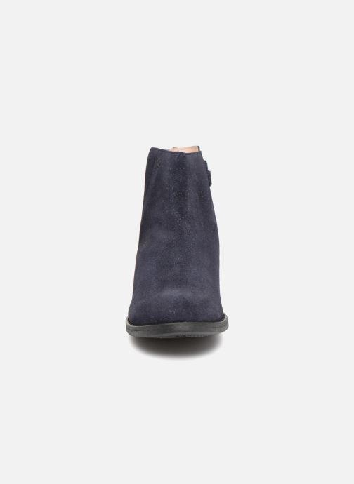 Botines  Acebo's Lupita Azul vista del modelo