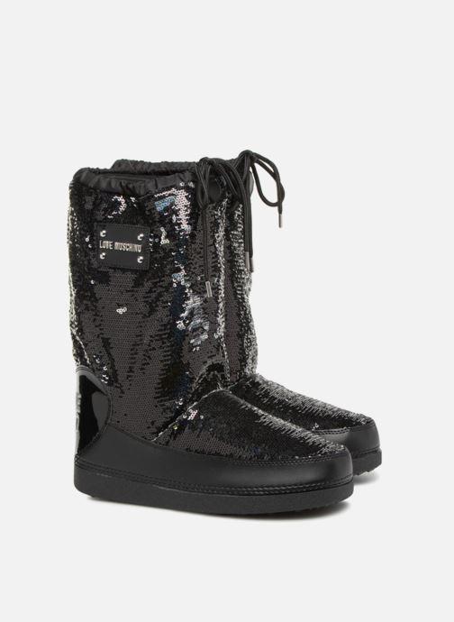 Zapatillas de deporte Love Moschino Paillettes Ski Boot Negro vista 3/4