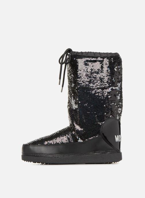 Zapatillas de deporte Love Moschino Paillettes Ski Boot Negro vista de frente
