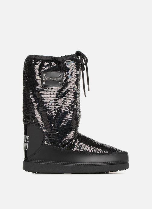 Zapatillas de deporte Love Moschino Paillettes Ski Boot Negro vistra trasera