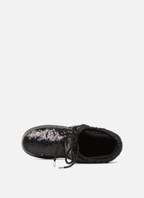 Zapatillas de deporte Love Moschino Paillettes Ski Boot Negro vista lateral izquierda